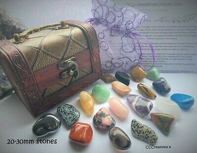 * YOU CHOOSE* 20pc HEALING CRYSTALS GEMSTONES  STARTER BOX GIFT CHAKRA SET