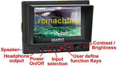 "Lilliput 569GL-50NP/HO/​Y 5"" LCD Video Camera Monitor HDMI YPbPr Input HDMI Out"