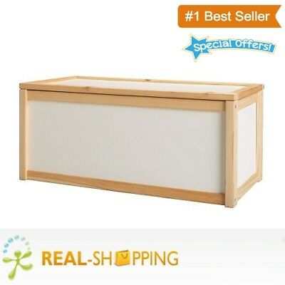 New Wooden Toy Box Storage Unit Childrens Kids Chest Boxes Bench White Cheap