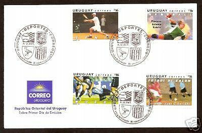 URUGUAY 2006 RUGBY TENNIS FOOTBALL HANDBALL 4v PO FDC