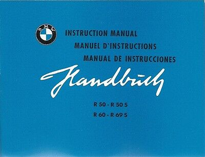 Manuel D'Instructions / Instruction Maunual BMW R 50 60 69 S, R50 R60 R69 R69S