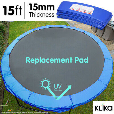 NEW REPLACEMENT TRAMPOLINE SAFETY SPRING PAD COVER 15ft REINFORCED