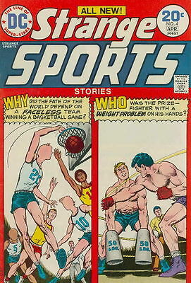 STRANGE SPORTS STORIES #4 Very Good, Faceless Basketball Team, DC Comics 1974