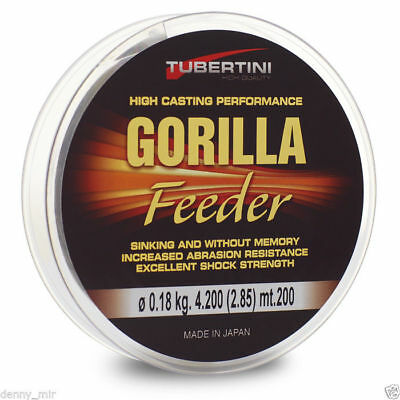 MONOFILAMENT FISHING LINE - TUBERTINI GORILLA FEEDER - 200m.