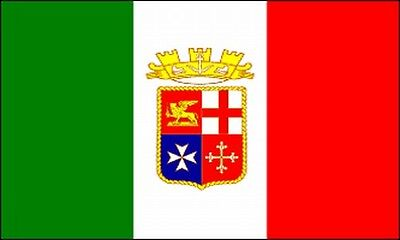 ITALIAN NAVAL ENSIGN 3x5 ft Italy Nation Country Banner Navy Jack Boat Ship