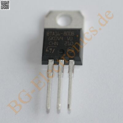 2 x BTA16-800B TRIAC 16A 800V  BTA16800B STM TO-220 2pcs