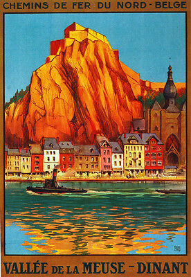 Chemin de Fer du Nord Valle de Meuse Decor Poster.Fine Graphic Art Design. 3010