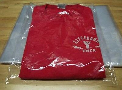 "25-9x12 Clear Poly T-Shirt Plastic Bags w/ 2""-Back Flap Flip Top-*BEST QUALITY*"