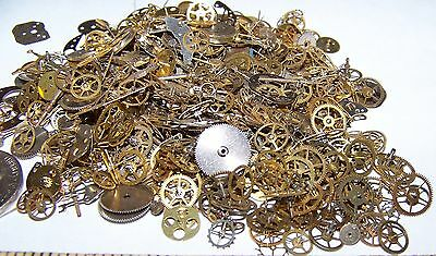 20g Shown Steampunk Watch Parts Hundreds of Pieces Vintage Antique OLD Gears Lot