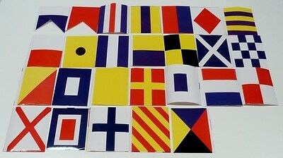 Nautical Signal Flag Sticker Set  of 26 Flags  Decals Approx 3 x 4 inch
