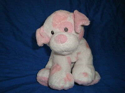 """TY PLUFFIES DOG  Baby Pups Pink 8"""" 2006"""