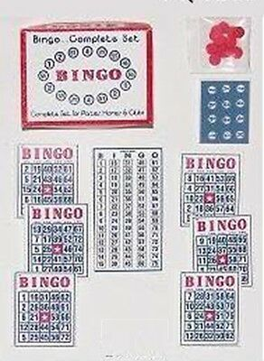 Dollhouse Miniature Playable Bingo Cards and Chips 1:12 Scale