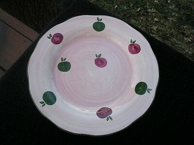 Franciscan Apple Pie Red Delicious Green Trim Red Green Apples Pink Salad Plate