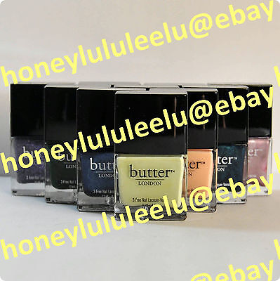 butter LONDON 3 FREE NAIL LACQUER Choose From 25 Colors Full Size New Authentic
