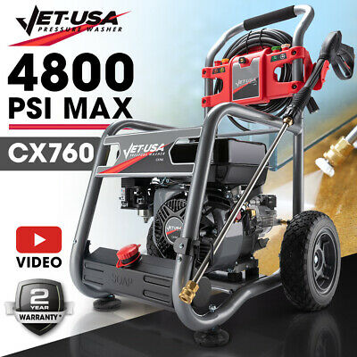 Jet-USA 4800PSI Petrol-Powered High Pressure Cleaner Washer Water Power Jet Pump