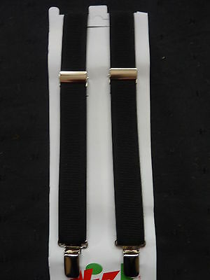 PLAIN BLACK BRACES for BOYS/GIRLS/CHILDREN -NEW-  fit approx. 1-6 years