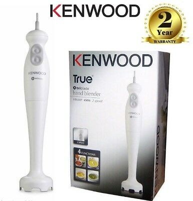 Kenwood HB680P Electric Food Hand Blender Turbo Speed Stainless Blade White 450W