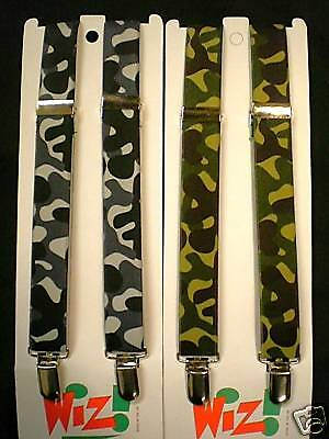 QUALITY BRACES for BOYS/GIRLS/CHILDREN in GREY OR GREEN CAMOUFLAGE