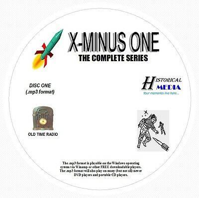 X MINUS ONE - 127 Shows Old Time Radio In MP3 Format OTR On 3 CDs