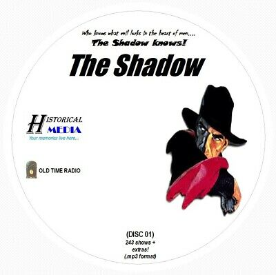THE SHADOW - 243 Shows Old Time Radio In MP3 Format OTR On 3 CDs