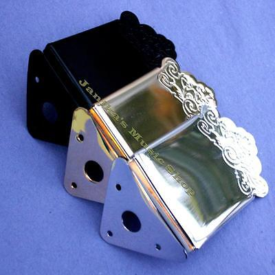 Mandolin Tail Piece And Cover + Screws New Tailpiece Anchor Chrome Black Or Gold