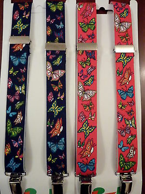 BUTTERFLY MOTIF  BRACES for BOYS/GIRLS/CHILDREN -AGE 1-6 YRS.approx. RED OR NAVY