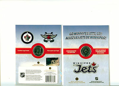 2011 Winnipeg Jets Canada Half Dollar 50 Cent Coin Mint In Package