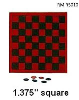 Classic CHECKERS Toy Set Den Room Play Dollhouse Miniatures 1:12 Scale