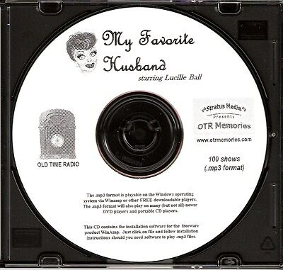 MY FAVORITE HUSBAND - 100 Shows Old Time Radio MP3 Format OTR 1 CD  LUCILLE BALL