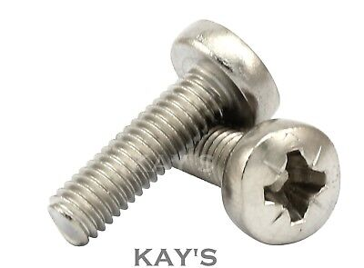 M4 (4mmØ)POZI PAN HEAD MACHINE SCREWS POZI DRIVE BOLTS A2 STAINLESS STEEL, KAY'S
