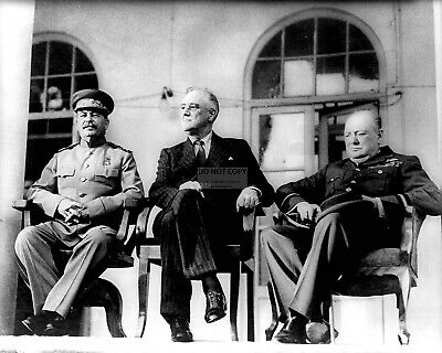 Stalin, Roosevelt And Churchill During Tehran Conference - 8X10 Photo (Ep-109)