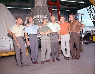 Mercury Astronauts At Manned Space Center In 1963 - 8X10 Nasa Photo (Ep-369)