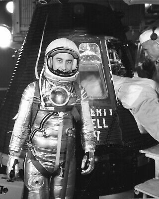 Gus Grissom Astronaut Before Entering Liberty Bell 7 - 8X10 Nasa Photo (Ep-429)