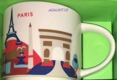 New With Box Starbucks You Are Here YAH (France City) PARIS Mug 14oz. Coffee Cup