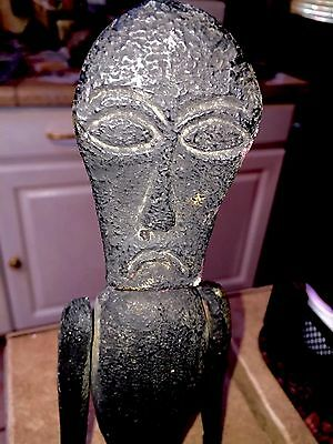 VTG WEIRD VOODOO HERB DOLL Hand Carved Wood ANATOMICALLY Correct w/Compartment