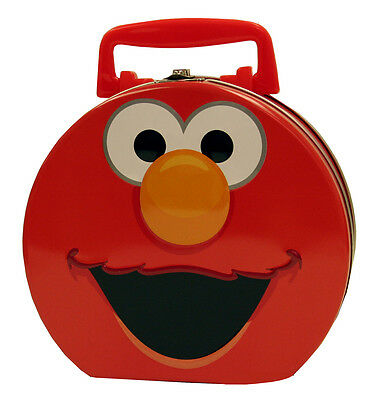 Sesame Street Elmo Large Carry All Tin Tote Hat Box NEW UNUSED