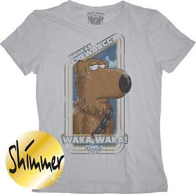 Family Guy Star Wars Blue Harvest Brian as Chewbacca Juniors T-Shirt Size Medium