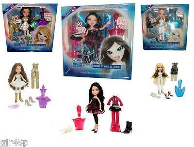 Bratz Fashion & Fragrance Sets Cloe Yasmin Jade Doll 2 Outfits Plus Perfume BNIB