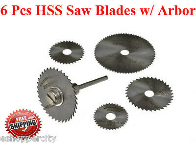 6 Pcs HSS Circular Saw Blade for Black & Decker Genesis Dremel  RotaryTool 1/8""