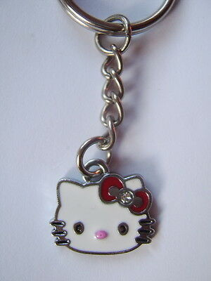 Hello kitty Enamel key ring . Red bow.    FREEPOST  *UK SELLER*