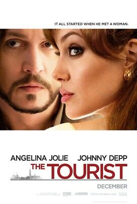 THE TOURIST MOVIE POSTER DS ORIGINAL Advance 27x40 AGELINA JOLIE JOHNNY DEPP