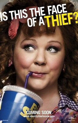 IDENTITY THIEF MOVIE POSTER 2 Sided ORIGINAL Advance 27x40 MELISSA MCCARTHY