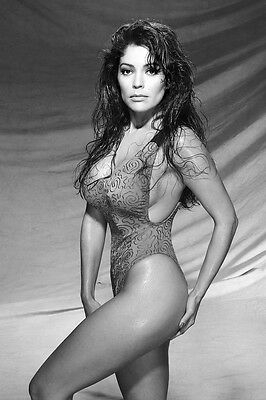 Apollonia Kotero 24X36 Poster Wet Hair Seductive Pose Busty In Swimsuit