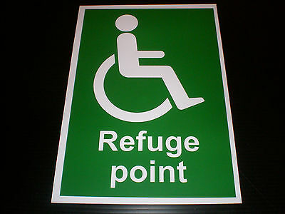 Refuge Point Plastic Sign Or Sticker Choice Of Sizes Fire Emergency Evacuation