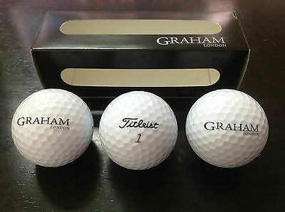 New - 3x Golf Ball TITLEIST - Edition GRAHAM London - For Collector's - Nueva
