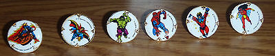 Vintage 1977 Marvel Comic rings of a bunch of the Super heroes
