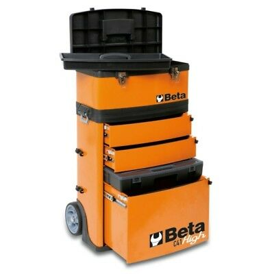 Beta Tools Special! Orange Two Module Tool Trolley Great Toolbox Removable Box