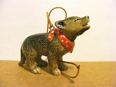 Northern Rose Retired Wolf Pup Christmas Ornament Support Wildlife Rehab