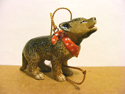Northern Rose Wolf Pup X-Mas Ornament, Support Wildlife Rehab, Dog, Christmas