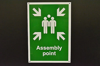 Assembly Point Plastic Or Metal Sign Or Sticker Choice Of Sizes Screen Printed